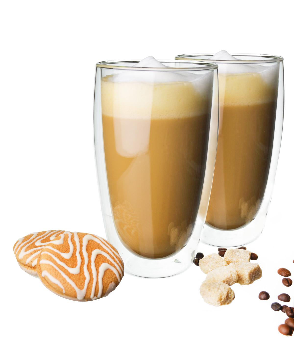 2 Doppelwandige Latte Macchiato Gläser 450ml Mit 2