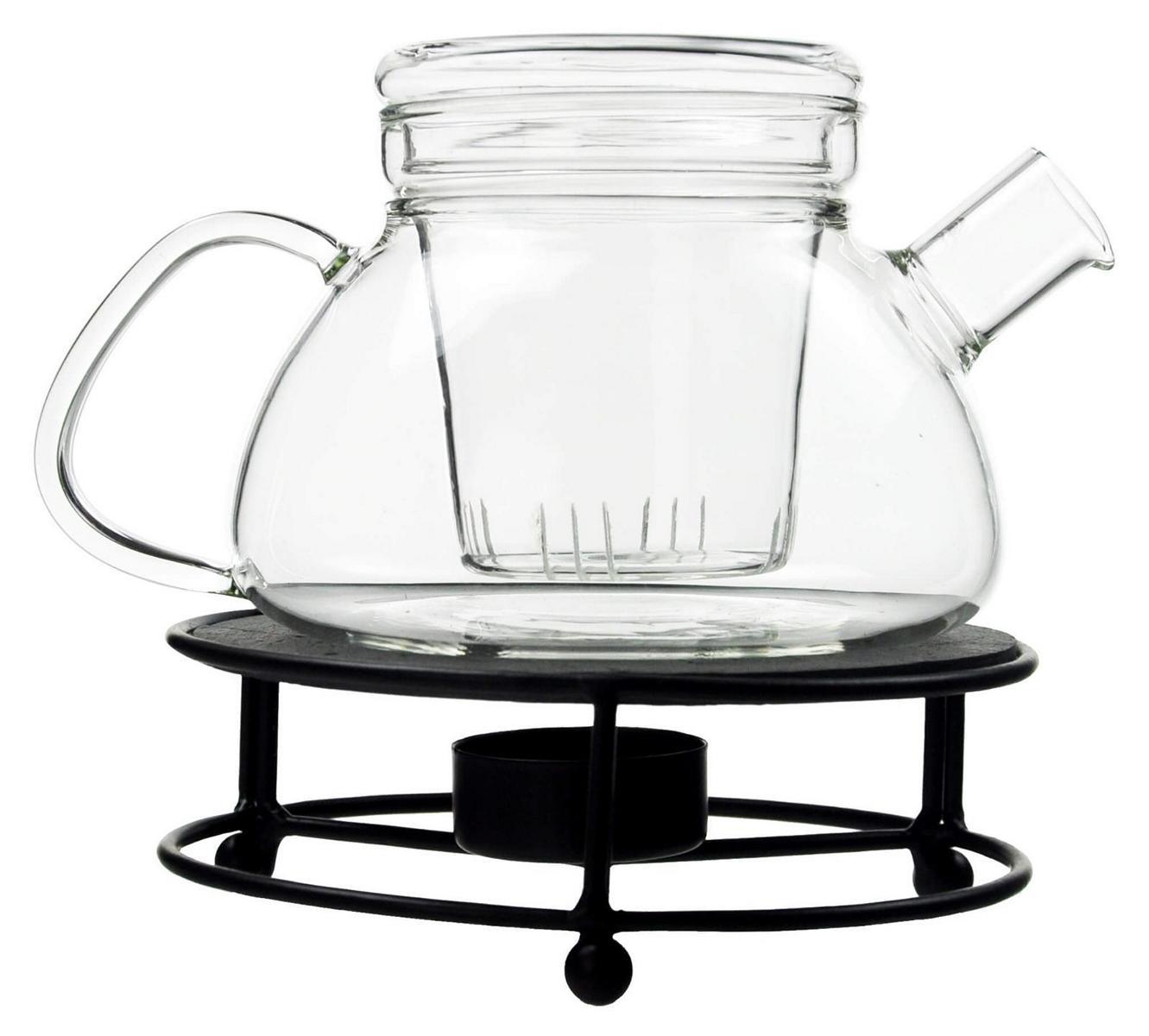 teekanne mit teesieb und metall st vchen glaskanne teekocher teepot teebereiter ebay. Black Bedroom Furniture Sets. Home Design Ideas