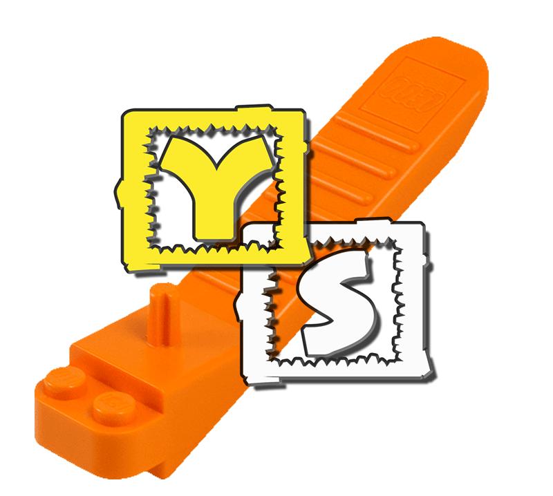 2x LEGO® 90540 Skistock Stab 3L perl-gold NEU pearl gold ski pole utensil
