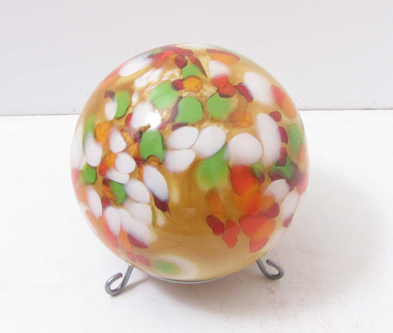 Edle bodenkugel mit st nder glas carmel d 25 cm handarbeit for Edle dekoartikel