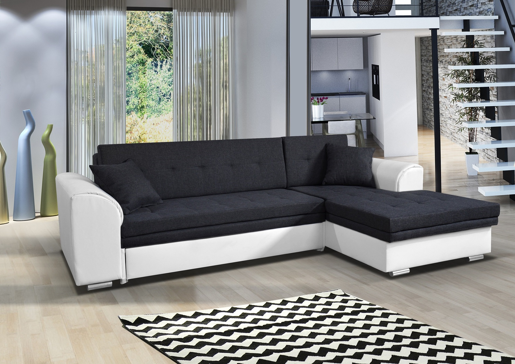 couchgarnitur kaja mini schwarz wei l form ebay. Black Bedroom Furniture Sets. Home Design Ideas