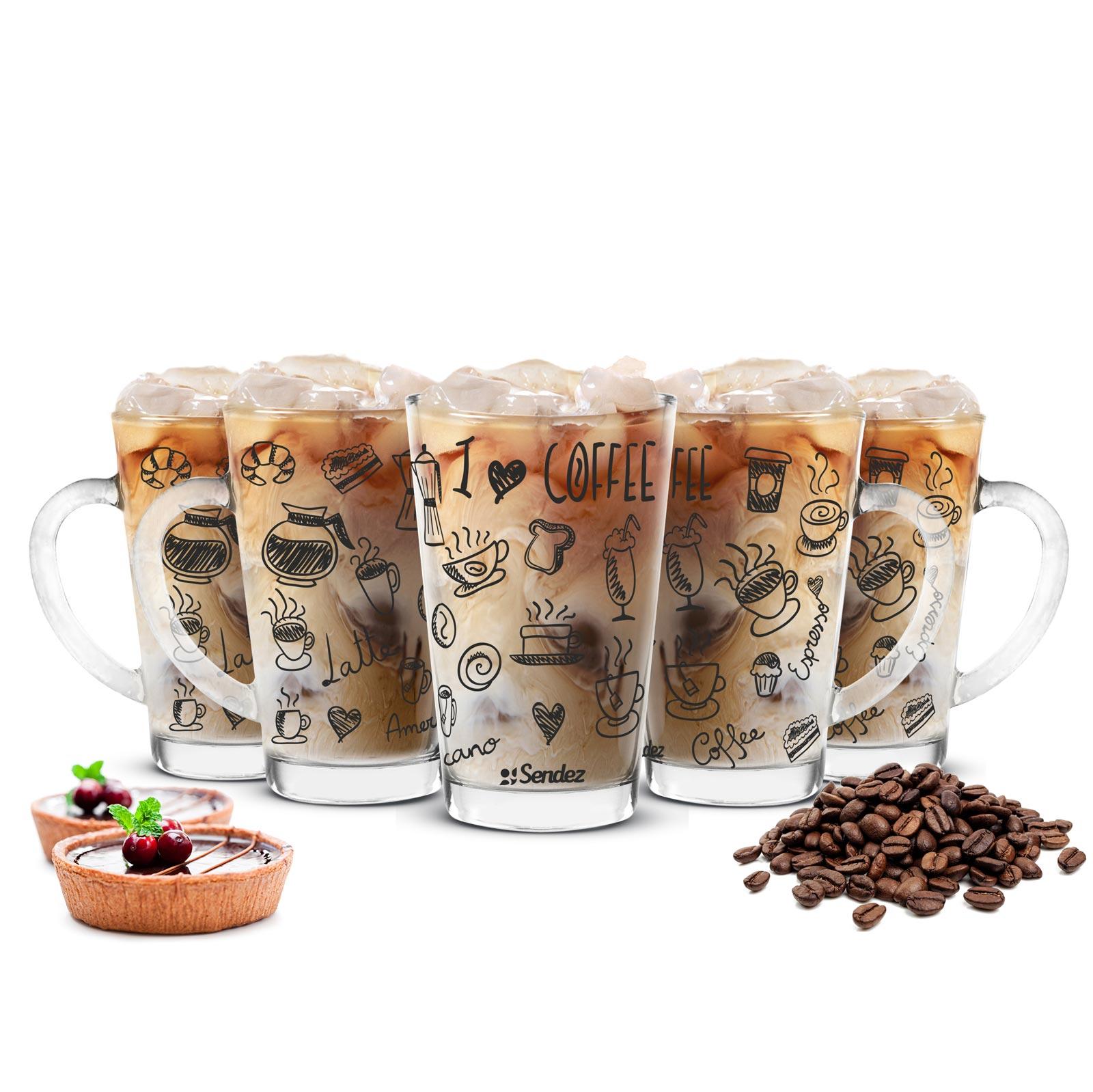 6 Latte Macchiato Gläser 300ml Kaffeegläser Teeglas