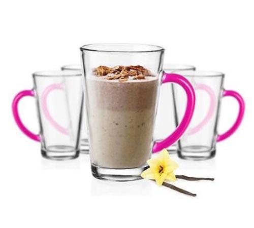6 latte macchiato gl ser 300 ml mit henkel kaffeegl ser teegl ser 9 varianten ebay. Black Bedroom Furniture Sets. Home Design Ideas