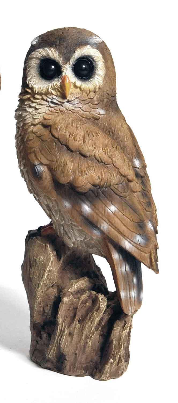 Tierfigur Deko-Eule Deko-Tier Polyresin Höhe 29 cm ...