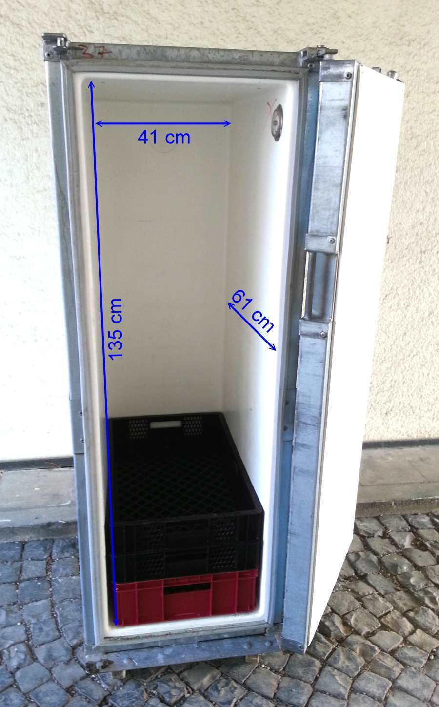 thermocontainer 400l k hlbox waffenschrank umweltschrank laborschrank h 340 ebay. Black Bedroom Furniture Sets. Home Design Ideas