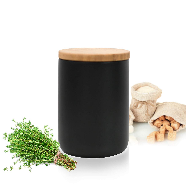 Details about Black Storage Box 12ml with Wooden Lid Porcelain Reservoir  Pot 12  show original title