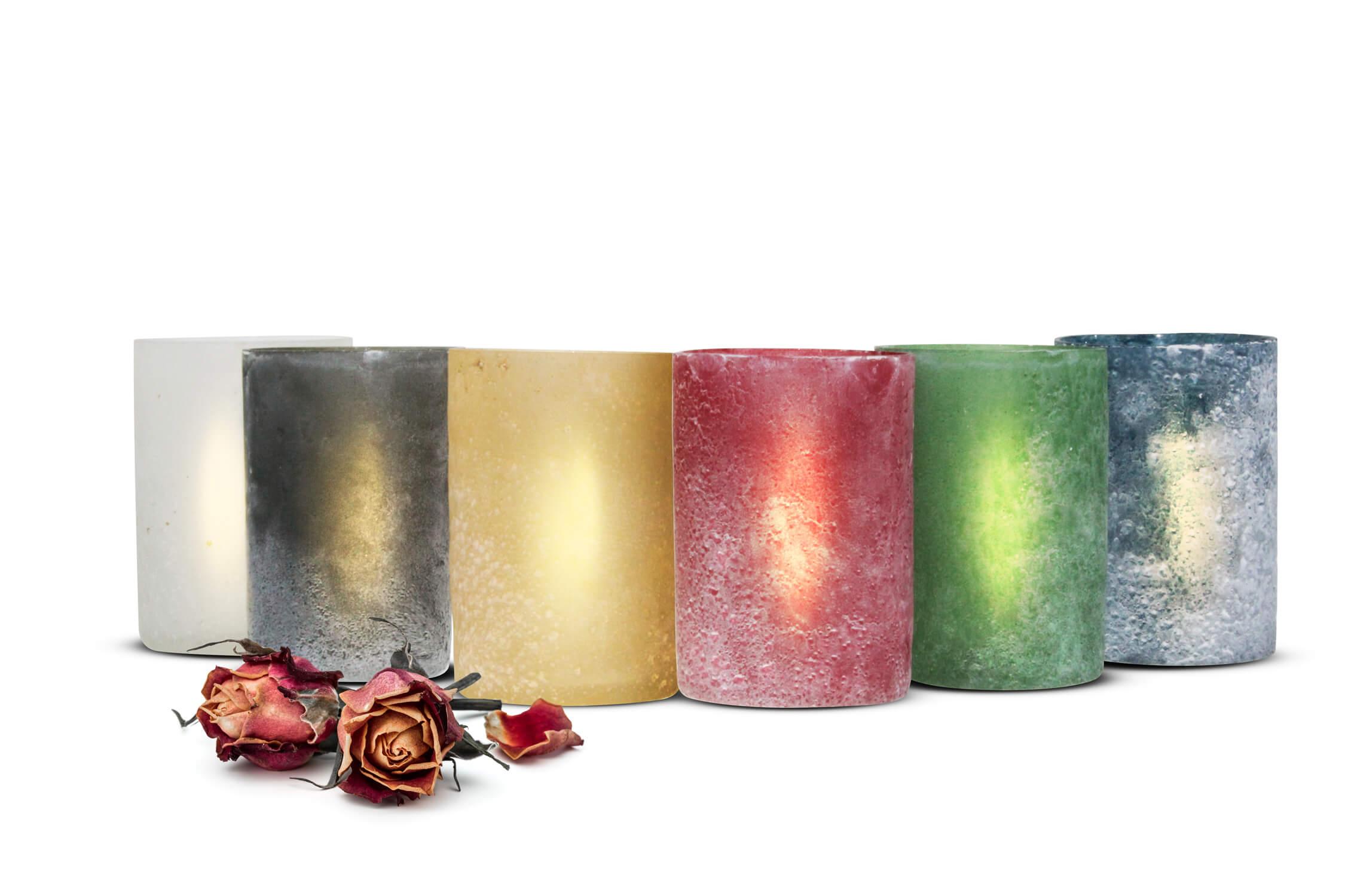 Freunde Teelichthalter 2er Set Glas-Windlicht