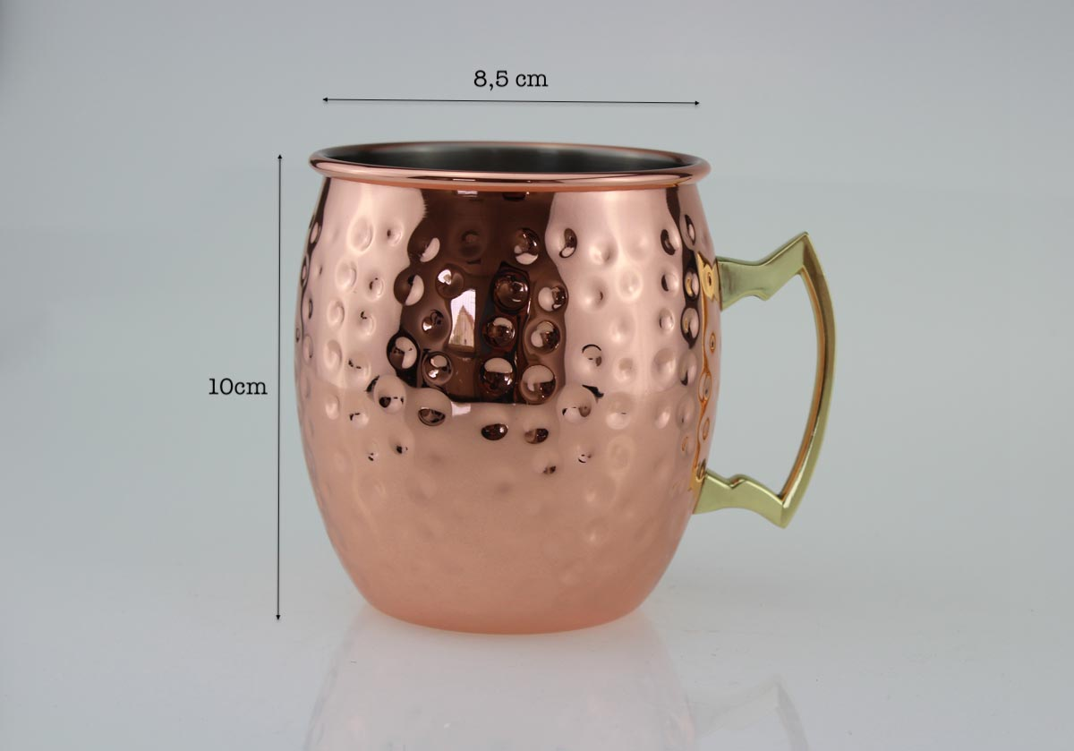 moscow mule becher 500 ml handgemachter kupferbecher moskau mule cocktailkrug ebay. Black Bedroom Furniture Sets. Home Design Ideas