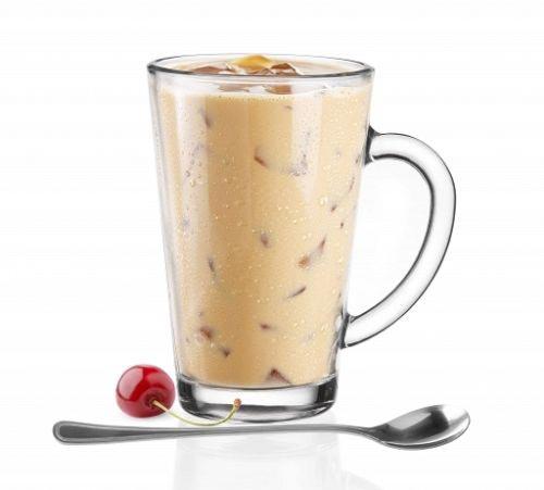 6 Latte Macchiato Gläser 300 Ml Mit Henkel Und 6 Edelstahl