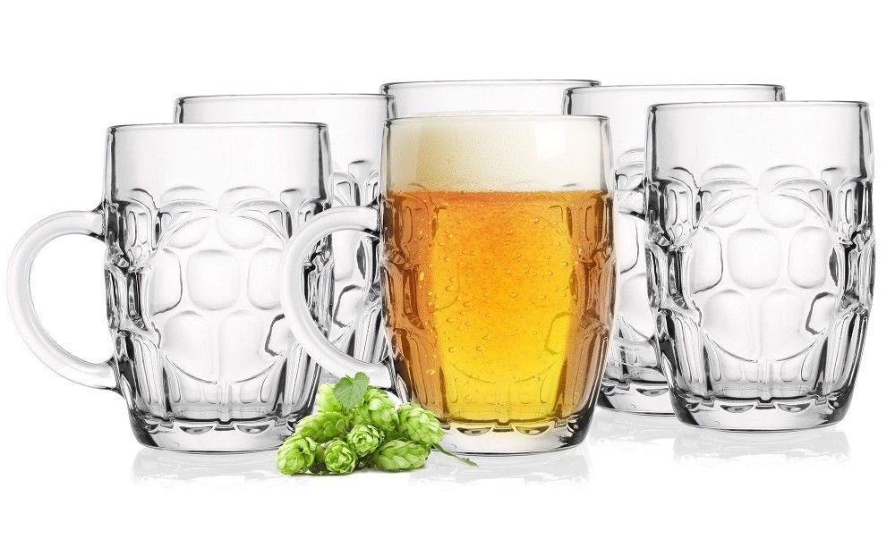 Bierkrug 6 Biergläser mit Henkel 0,5L Bierseidel Bierkrüge Pilsgläser Bierglas