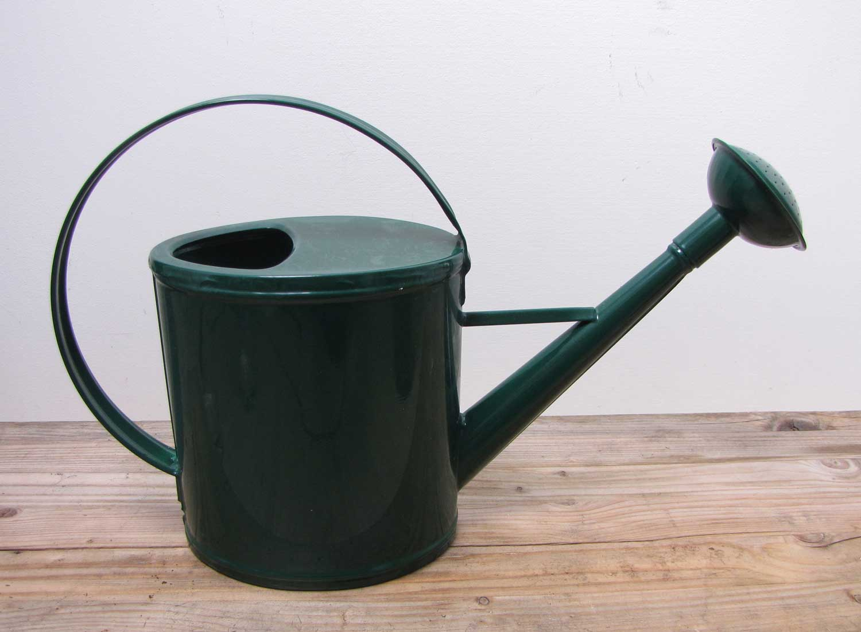 Robuste Gießkanne Metall grün für 2 Liter Kanne Deko-Kanne Gartenkanne