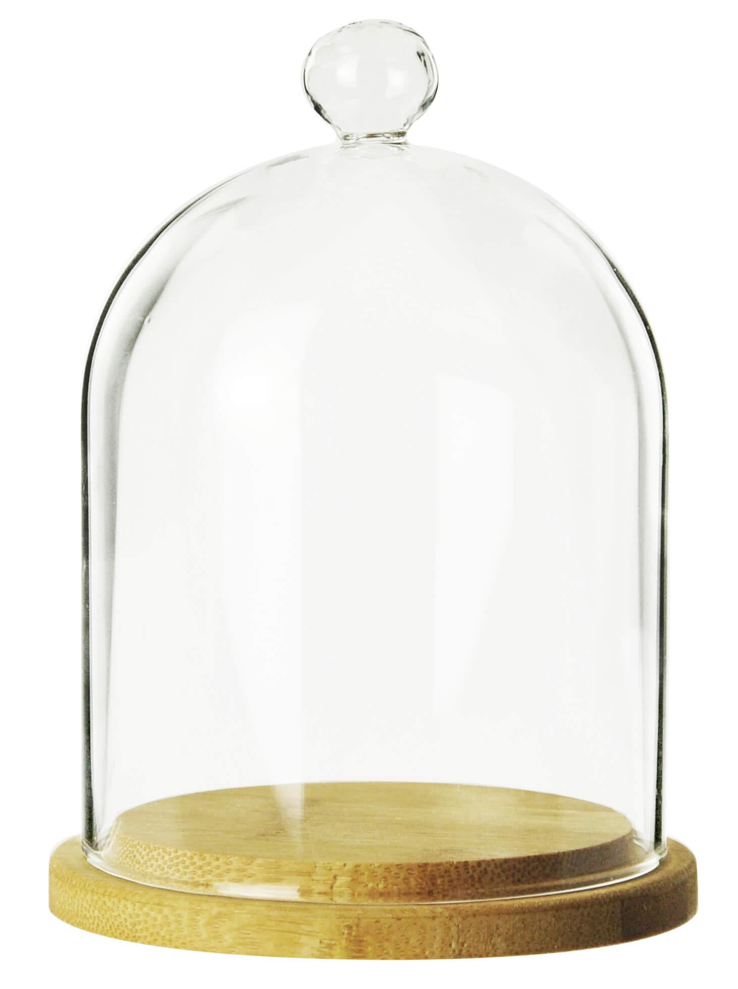 glasglocke mit holzteller 14cm glashaube glaskuppel muffin glocke glasdom haube 4260542960101 ebay. Black Bedroom Furniture Sets. Home Design Ideas