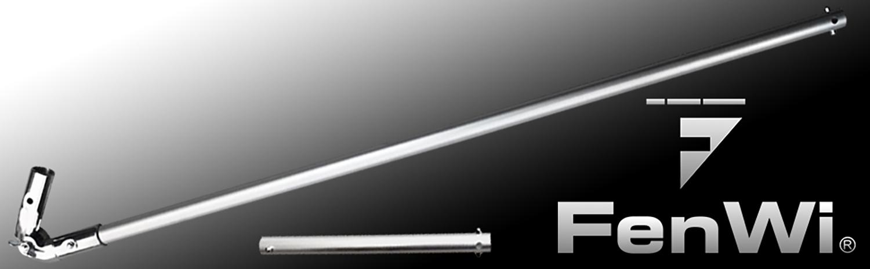Aluminio-unión de revolución-set con 80cm-prórroga como accesorios para barras de telescopio