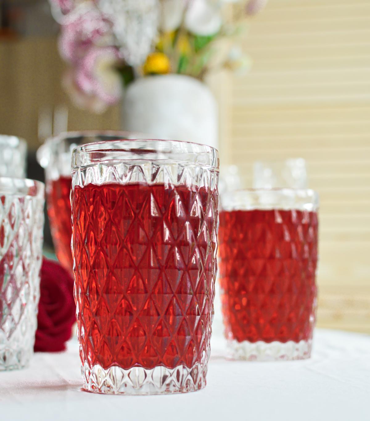 6 Trinkgläser mit Relief Wassergläser Saftgläser Cocktailgläser Longdrinkgläser